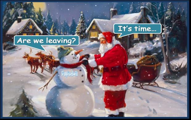 Santa is leaving...