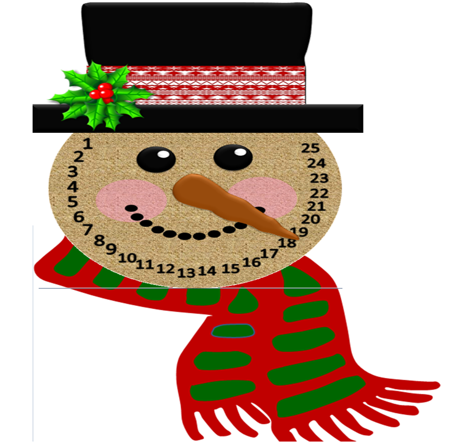 free printable snowman countdown to christmas papadeligames